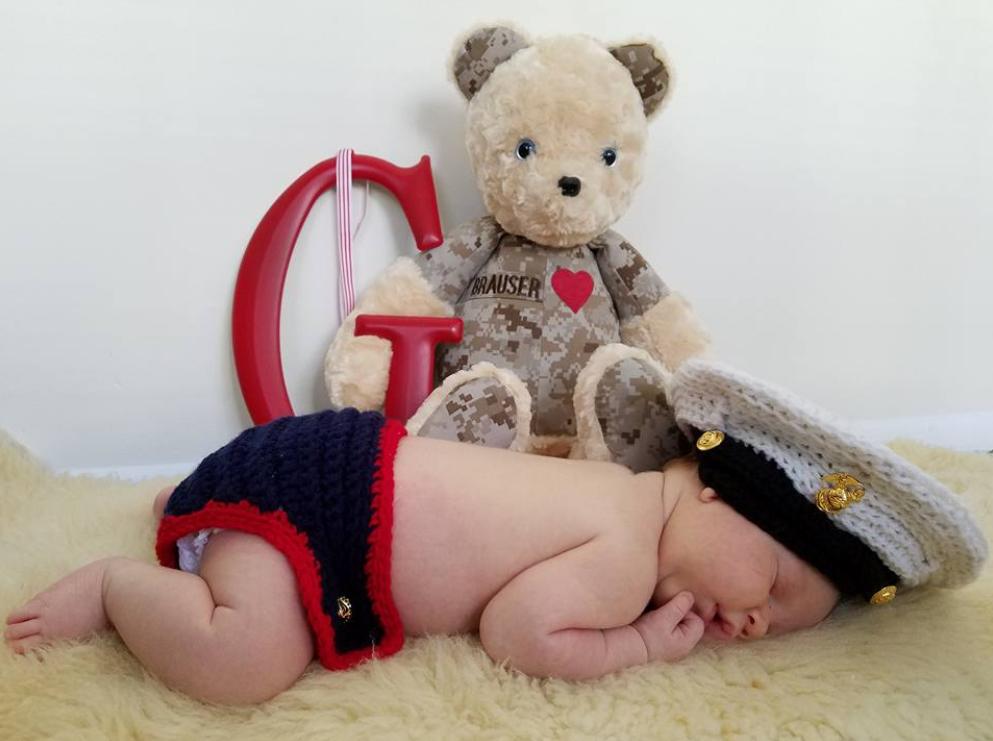 Beary huggables teddy bear with baby
