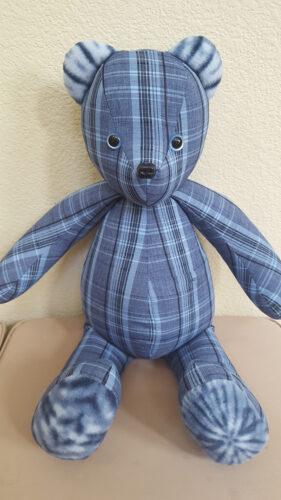 03 - BearyHuggables_ blue pattern memory bear