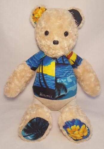 08 - BearyHuggables_Hawaii pattern memory bear