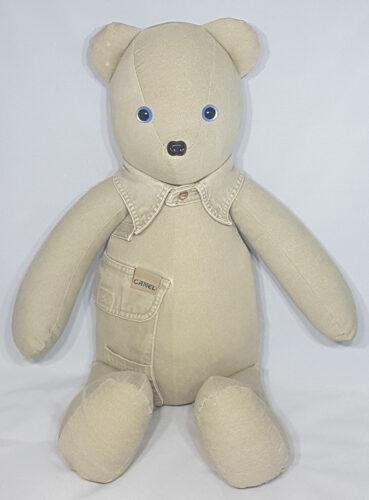 11 - BearyHuggables_khaki camel shirt memory bear