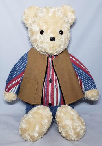 12 - BearyHuggables_patriotic with vestl memory bear