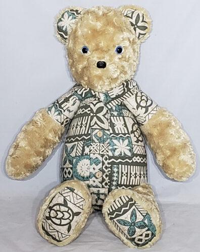 17 - BearyHuggables_Hawaiian shirt with blue eyes memory bear