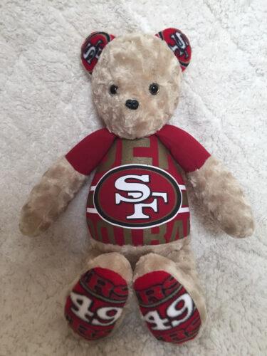 23 - BearyHuggables_SF 49ers memory bear