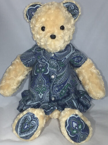 25 - BearyHuggables_paisley girl memory bear