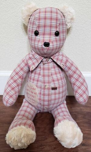 26 - BearyHuggables_red with saying memory bear