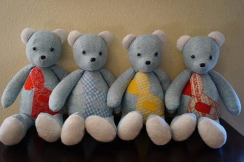 Beary huggables teddy bears with four bears