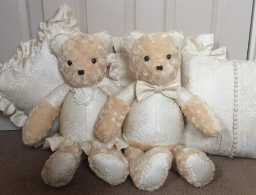 30 - BearyHuggables_weddingt memory bear