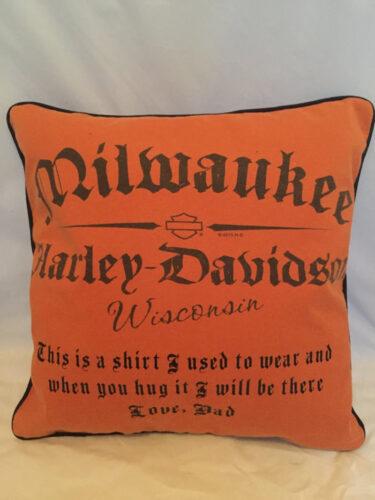 36- BearyHuggables_Dads Harley shirt memory pillow