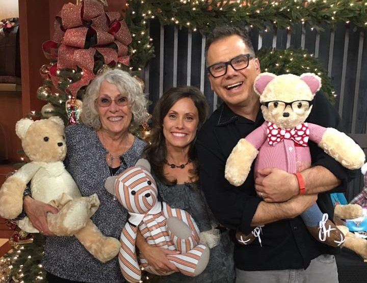 Beary huggables owners Susie and Jenni with Good Day Sacramento host