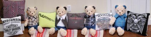 100-Beary Huggables_Harley Davidson Memory Bears & Pillows