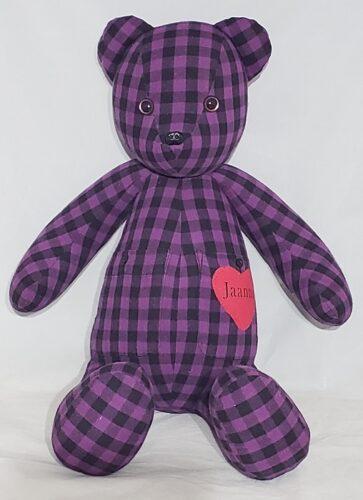 48- Beary Huggables_Full Checkered memory bear