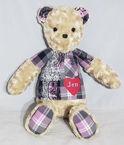 49- Beary Huggables_ Plaid memory shirt bear