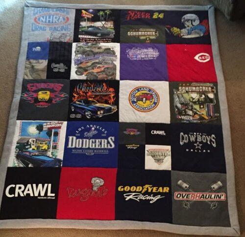 50- Beary Huggables_ Car Fan memory quilt blanket