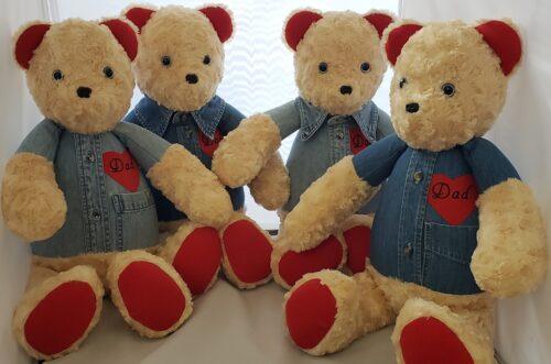 56-Beary Huggables_family memory levi shirt bears