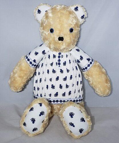 60-Beary Huggables_decorative blue memory shirt bear