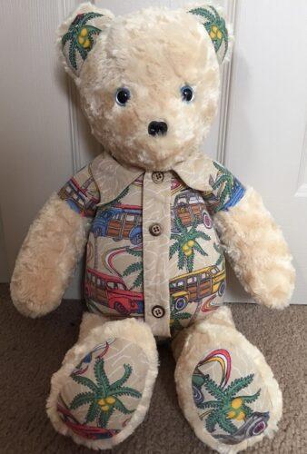 61-Beary Huggables_Hawaiian onesie bear with detachable collar & tie
