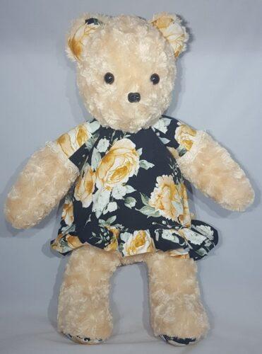 63-Beary Huggables_Yellow Rose Dress Bear