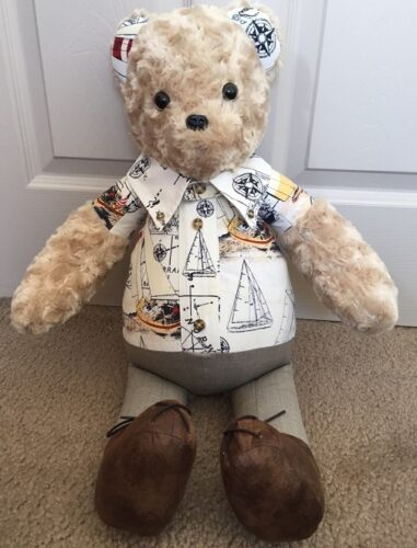 65-Beary Huggables_Sailboat Bear with Collar & Tie, Pants and Shoes