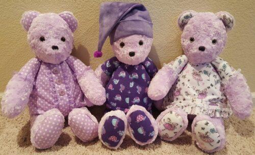 66-Beary Huggables_Purple Tri Bears
