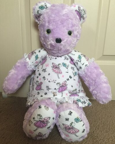 77-Purple Fairy Dress Bear