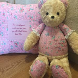 78-Beary Huggables_Personalized PJ Shirt Bear & Pillow