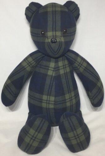 80-Beary Huggables_Full Plaid Memory Bear
