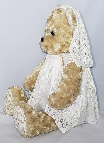 86-Beary Huggables_Wedding Bear w/ Lace Veil