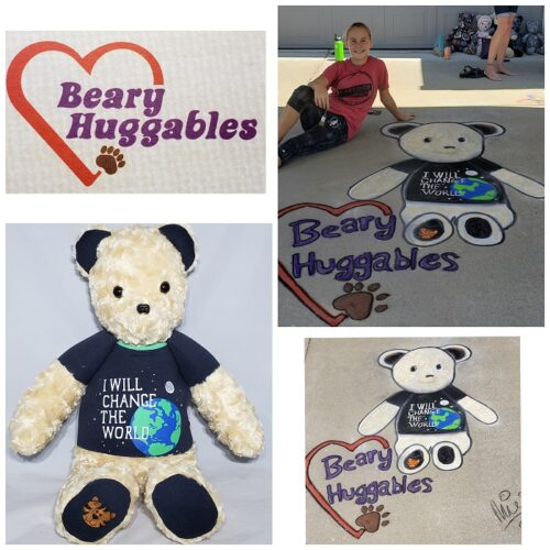 87-Beary Huggables_Mia's Chalk Art