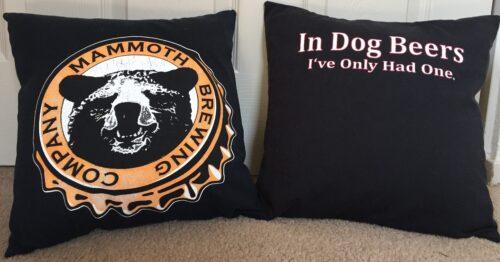 93-Beary Huggables_Beary Huggables 14 x 14 Mammoth Brewing Pillows