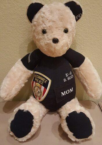 96-Beary Huggables_Police Bob's Memory Bear